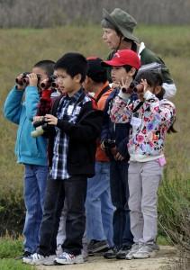 School field trip, Bolsa Chica, CA, by Ted Lee Eubanks